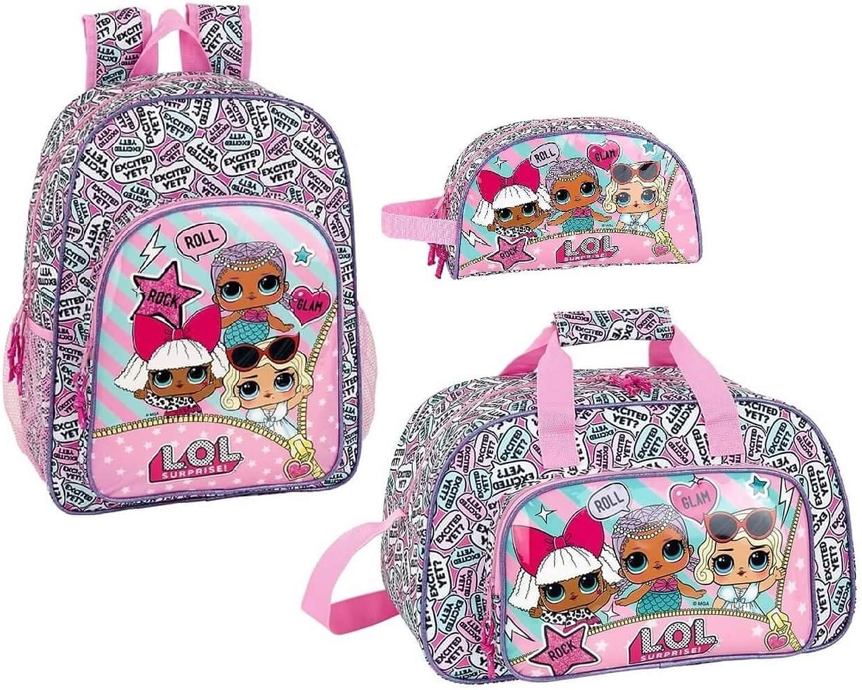 L.O.L. Surprise - Rucksack, Sporttasche und Kosmetiktasche; Rosa B07LBGZJ6X | Sehen Sie die Welt aus der Perspektive des Kindes