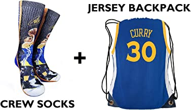 Forever Fanatics Golden State Curry #30 Ultimate Basketball Fan Gift Set Bundle ✓ Curry #30 Crew Socks Sizes 6-13 ✓ Matchi...