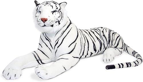 Melissa & Doug Weißer Tiger - Naturgetreues Plüschtier mit lebensechtem Gesichtsausdruck