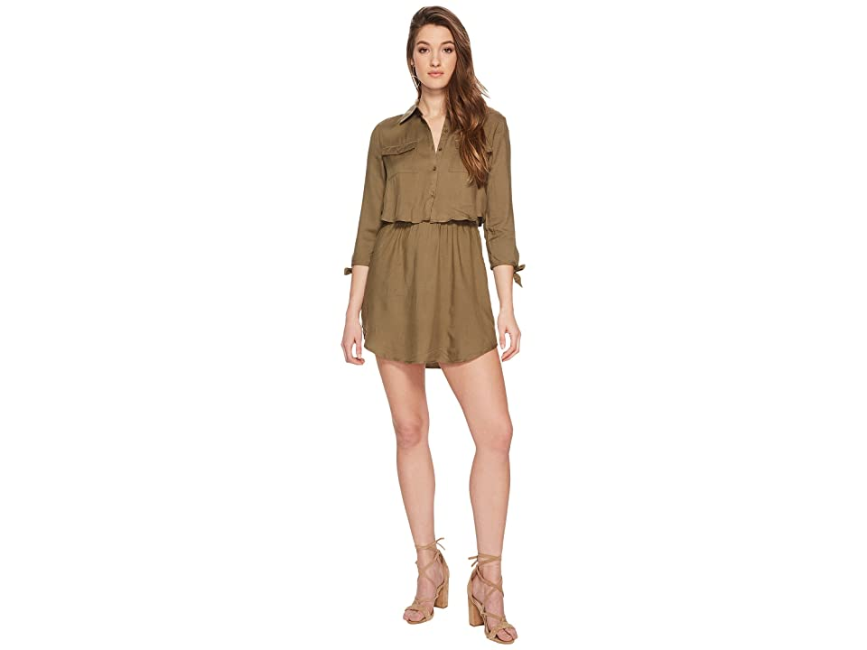 Jack by BB Dakota Blige Tie Sleeve Dress (Burnt Olive) Women