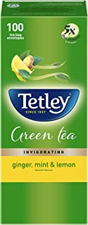 Tetley Green Tea Bags - Ginger, Mint & Lemon, 100 Bags