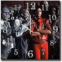 mV Michael Jackson 11.4'' Handmade Reverse Wall Clock - Get Unique décor Home Office – Best Gift Ideas Kids, Friends, Parents Your Soul Mates