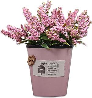 Art Street Ceramic Artificial Plant for Indoor/Outdoor, Home & Office, Garden, Restaurant, Hotel,Party Décor (H -16 cm)-Pink