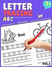کتاب ردیابی نامه برای پیش دبستانی ها: کتاب ردیابی نامه برای کودکان در سنین 3-5 سال ، کتاب ردیابی نامه ، کتاب کار تمرین ردیابی نامه (جلد 2)