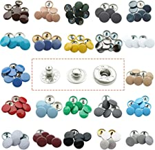 Trimming Shop 15mm S Spring Press Studs in Gunmetal 4 Part, Durable and Lightweight, Metal Snap Fasteners for Jackets, Jeans, Leather Craft, Straps and Sewing Projects, Clothes Repair