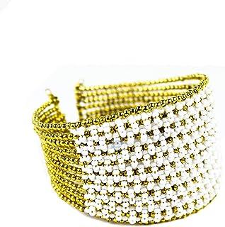 Bridal Gold Multi Layered Golden Bangle Bracelet | Handmade Jewelry & Accessories | Nagina International