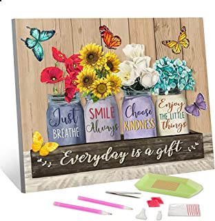 Diamond Painting Kits for Adults Fresh Flowers 5D Full Drill Diamond Art Painting Kit for Kids Resin Round Diamond Paintin...