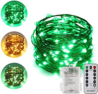 Warm White, Blue ErChen USB Dual-Color Led String Lights 33FT 100 Leds Color Changing Dimmable 8 Modes Copper Wire Fairy Lights with Remote Timer for Indoor Outdoor Christmas