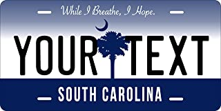 50 State Personalized Custom Novelty Tag Vehicle Auto Car Bike Bicycle Motorcycle Moped Key Chain License Plate (South Carolina 2016)