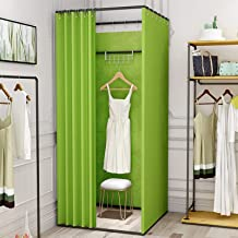 YXYECEIPENO Mobile Fitting Room Clothing Store Changing Room Easy to Move Cloakroom to Show Changing Clothes Save Space, L...
