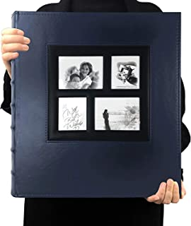 TIM EXTRA BIG 500 photo photo album memo slot photo album PU leather cover stitched and glued can hold 4x6 photos per page...