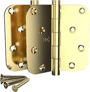 2 Pack Omnia 4 x 4 Extruded Solid Brass Door Hinge 5/8