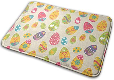 Multicolored Easter Eggs Carpet Non-Slip Welcome Front Doormat Entryway Carpet Washable Outdoor Indoor Mat Room Rug 15.7 X 23.6 inch