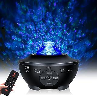 Tanbaby Sternenhimmel Projektor LED Sternenprojektor Wasserwellen Nachtlichter Ferngesteuerte Sterne Lampe Bluetooth Musik...