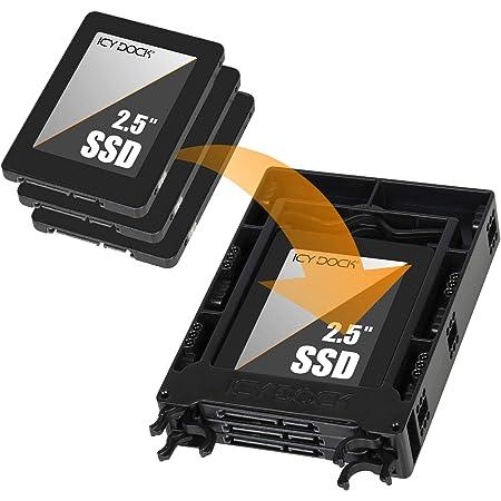 "ICYDOCK MB610SP 2.5"" HDD SSD 搭載用 マウンタ 2台 3台 搭載 可能 3.5"" サイズ ブラケット"