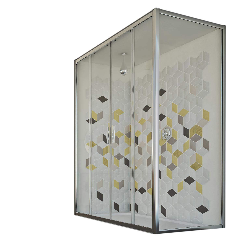 Idralite Mampara de Ducha 80x150 CM H198 Vidrio Transparente Mod. Young Duo 2 Hojas: Amazon.es: Hogar