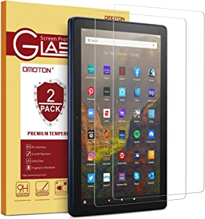 [2 Pack] OMOTON Screen Protector for All-New Amazon Fire HD 10/Fire HD 10 Plus/Fire HD 10 Kids/Fire HD 10 Kids Pro Tablet ...