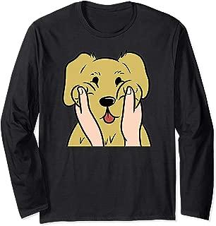 Golden Retriever Chubby Cheeks Funny Dog Gift  Long Sleeve T-Shirt