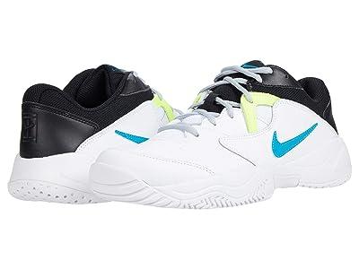 Nike Court Lite 2 (White/Neo Turquoise/Hot Lime/Light Smoke Grey) Men