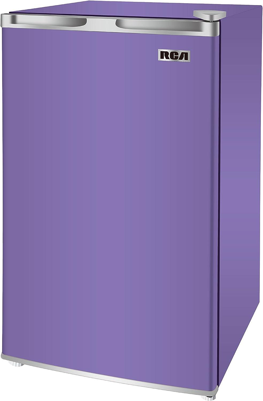 RCA RFR321-FR320 8 IGLOO Mini Refrigerator, 3.2 Cu Ft Fridge, Purple