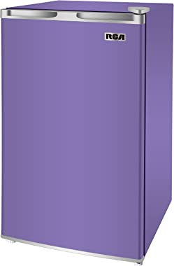 RCA RFR320-PURPLE 3.2 Cu Ft Compact Fridge, Mini Refrigerator, Purple