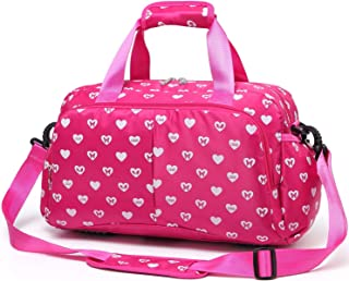 Durable Girls Overnight Duffle Bag for Weekend Travel Little Kids Women Airplane Underseat Carry On Luggage Small Carryon ...