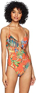 Lucky Brand Women's Strappy One Piece Swimsuit One Piece Swimsuit