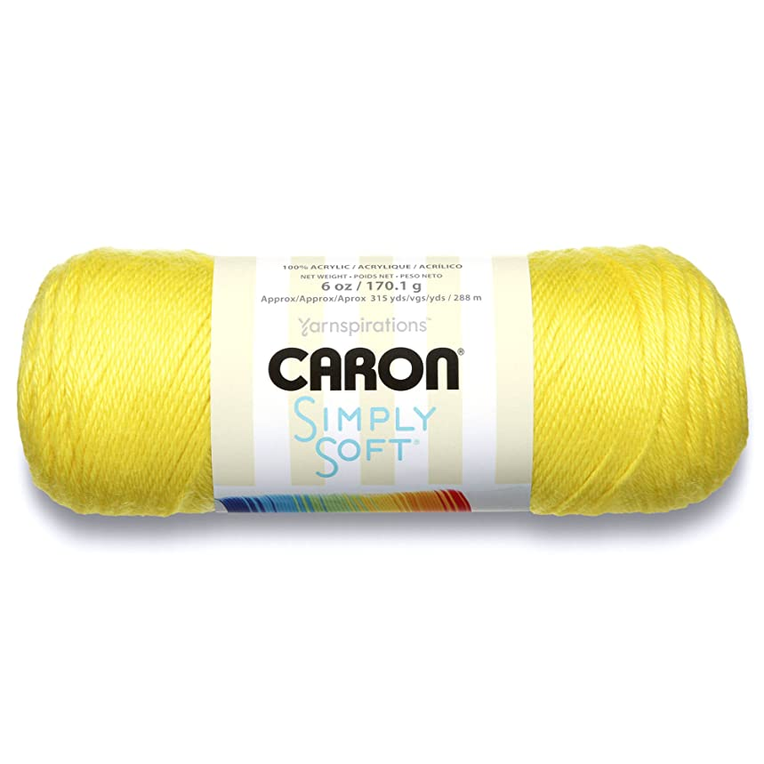 Caron Simply Soft Brites Yarn, 6 oz, Super Duper Yellow, 1 Ball