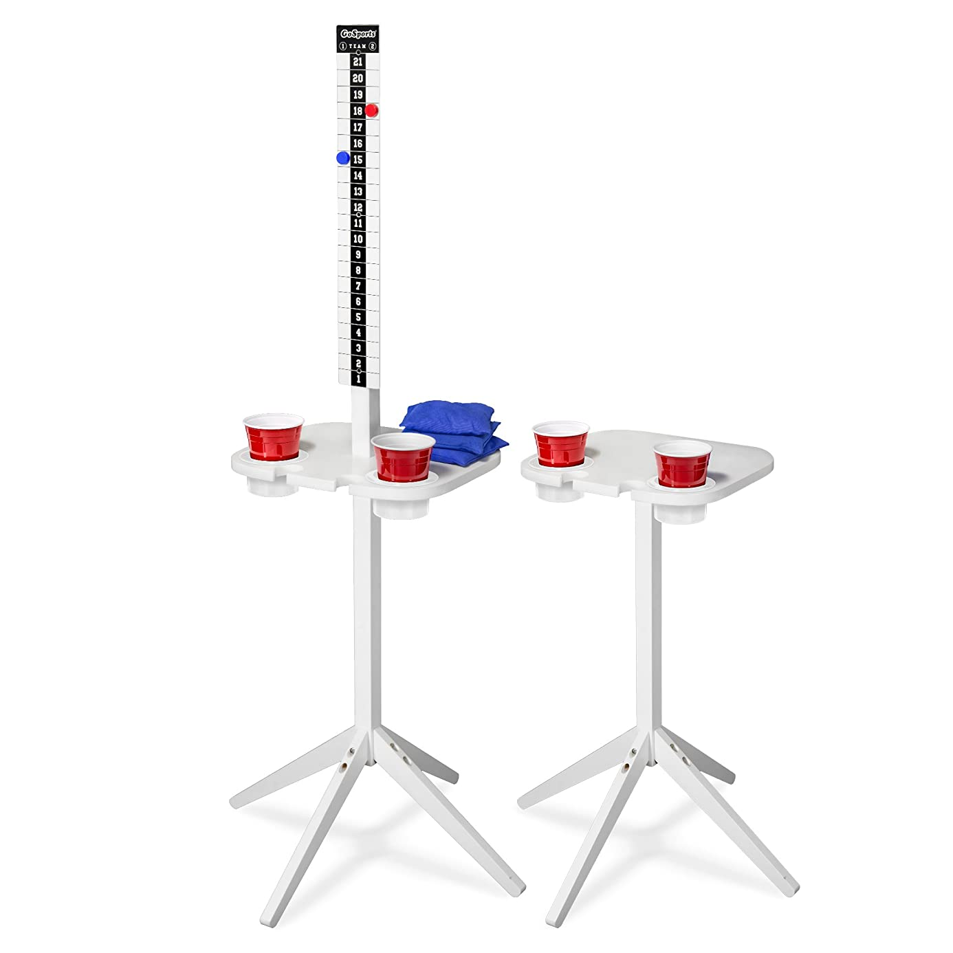 GoSports ScoreCaddy Outdoor Scoreboard Keeper with Drink Holders – Perfect Accessory for Backyard Cornhole and Yard Games