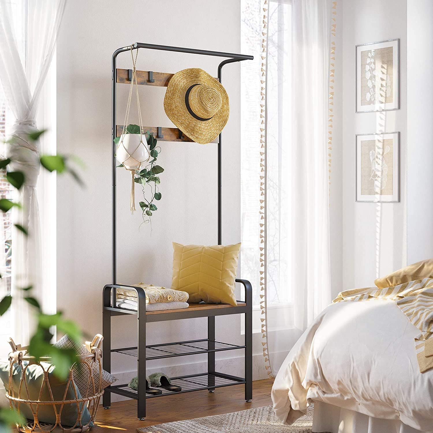 ACHICOO Max 52% OFF Only Support Drop Complete Free Shipping Shipping Shoe Coat Hall Rack Bench