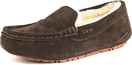 DREAM PAIRS Women's Faux Fur Moccasin Slippers