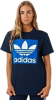 Adidas Women's Womens Bf Tee Crew Neck Short Sleeve Cotton Blue