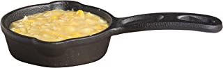 "TableCraft Products CW30122 Cast Iron Mini Round Skillet 3⅝"" Dia (6⅞"" with Handle) x 1¼"" D, 1.25"" Height, 4.125"" Width, 6...."