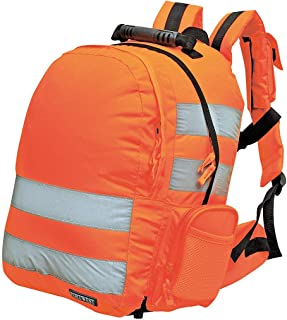 Portwest Quick Release Rucksack(25L) Hi Vis Viz Work Bag Backpack Reflective Safety