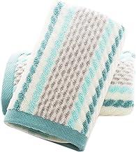 مناشف اليد من بيدادا مجموعة من 2 نمط مخطط 100% قطن فائق النعومة منشفة يد للحمام 13 × 28 بوصة (أخضر)