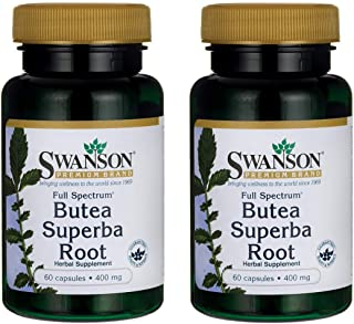 Swanson Butea Superba Root Full Spectrum 400 Milligrams 60 Capsules 2 Pack