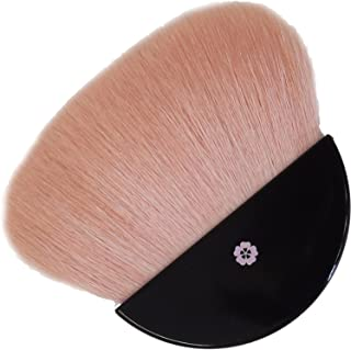 BP-4 六角館さくら堂 べっぴん桜筆 扇型パウダーブラシ フェイスブラシ 山羊100% 桜軸 オリジナル化粧筆