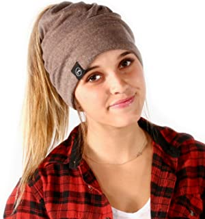 Pretty Simple Women's Beanie - A Slouchy Beanie with Ponytail Hole