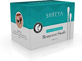 Shreya Eye Makeup Remover Swabs - 100 Pcs Individual Packaging, Makeup Eraser/Corrector Formula Filled Swabs - 100% Double Sided Tips Pure Cotton Design, Perfect for Cosmetics Removal
