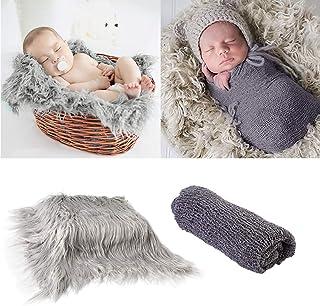 2 unidades de envoltorios para fotos de bebé recién nacido y alfombrilla de fotografía, DIY recién nacido manta de fotos e...