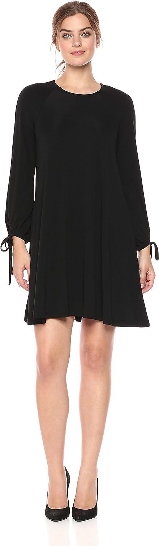 Karen Kane Womens Black TieSleeve Swing Dress Dress