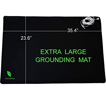 Groundmate Grounding Mat, Multi-Purpose Conductive Leather Mat with Grounding Cord. Premium Quality Earthing Mat 35.4 x 23.6 inches
