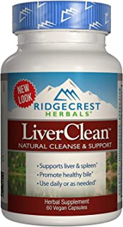 Ridgecrest Herbals LiverClean, Natural Cleanse and Support, 60 Vegetarian Capsules