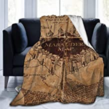 Soft I Like Exercise Marauders Map Throw Blanket, Sherpa Flannel Travel Blanket Wearable Throw, King Size Blankets for Lounge Couch Reading Watching TV, 60x80 Inch