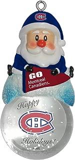 Boelter Brands NHL Unisex NHL Santa Snow Globe Ornament