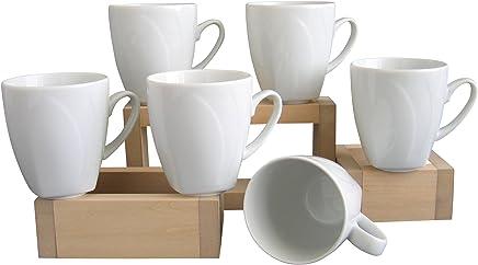 Preisvergleich für Creatable 13165, Serie Celebration Weiss, 6 TLG Kaffeebecher Set, Porzellan, 34.5 x 19.5 x 13 cm, 6-Einheiten