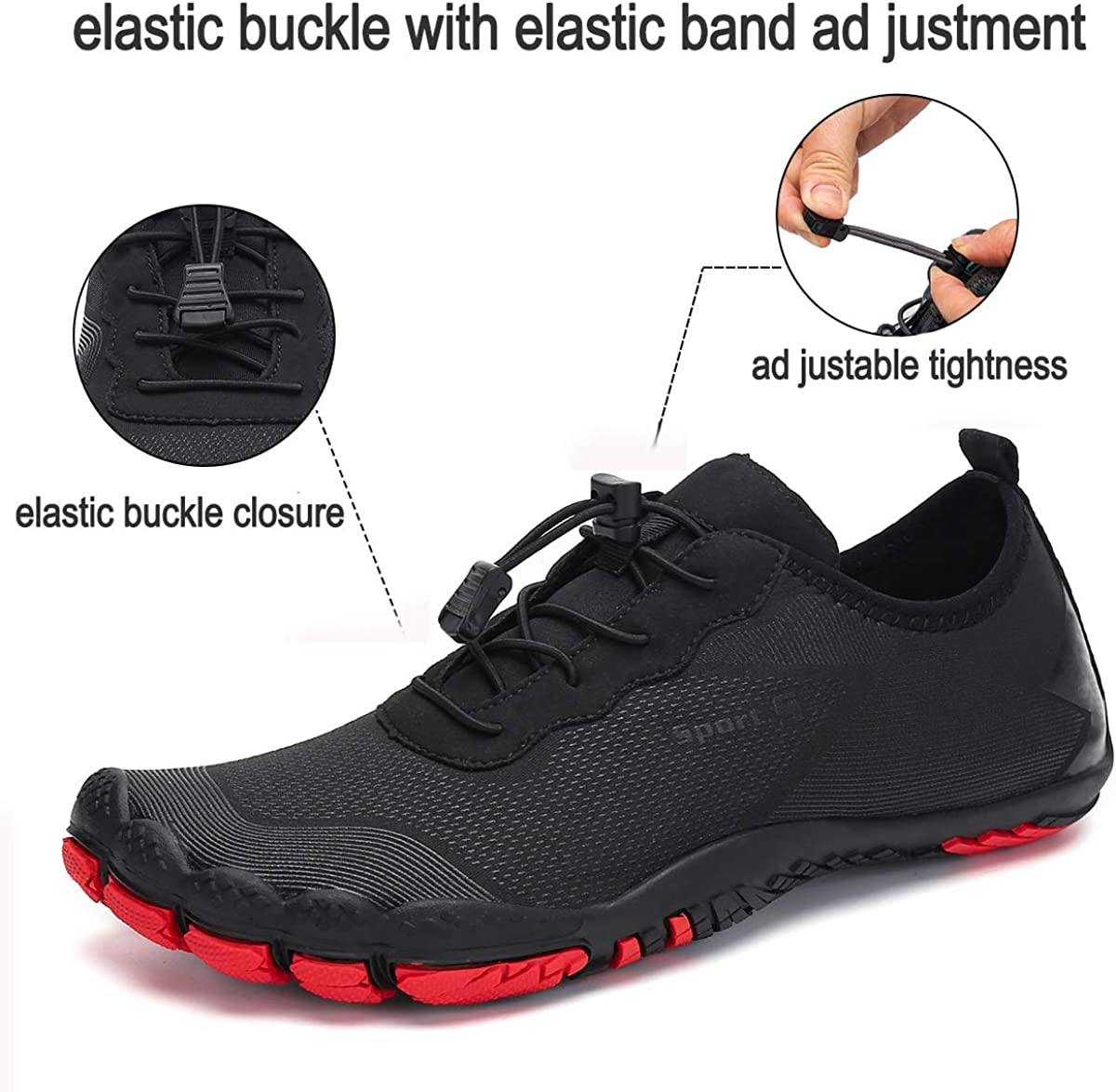 Dannto Mens Hiking Shoes Quick Dry Barefoot Water Shoes Breathable Casual Shoes Sports Aqua Shoes Swim Shoes for Outdoor Hiking Beach Boating Fishing and Leisure Activities