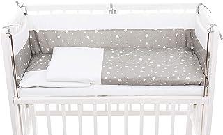 Fillikid Beistellbett Cocon 45x95 cm weiß inkl. kompl. Bettwäsche, Anstellbett zum Elternbett, Babybett, Beistellbett & Stubenwagen mit Rollen, Stillbett