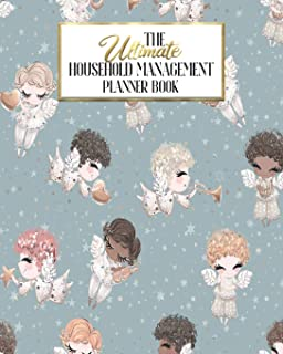 The Ultimate Household Planner Management Book: Cherub Angels Mom Tracker | Family Record | Calendar Contacts Password | School Medical Dental Babysitter | Goals Financial Budget Expense