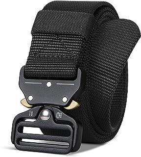 Men/Women Tactical Nylon Belt, Military Style Webbing Riggers Belt Metal Buckle Quick Release